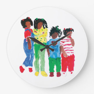 """""""Back In The Day"""" Round (Large) Wall Clock"""