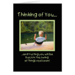 Back in the Swing - get well Greeting Card