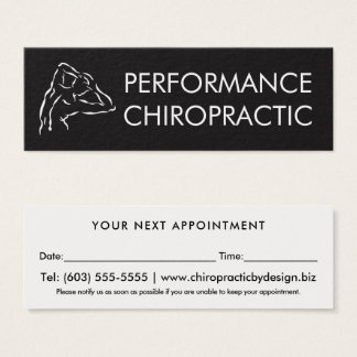 Back Logo Simple Chiropractor Appointment Mini Business Card