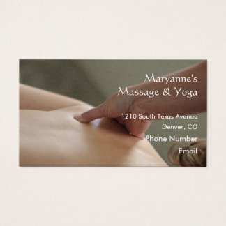 Back Massage Photo - thumb Business Card