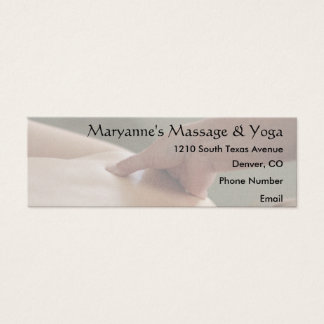 Back Massage Photo - thumb Mini Business Card