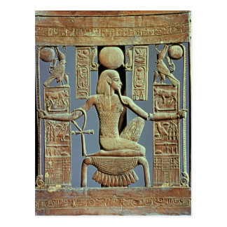 Back of a chair from the tomb of Tutankhamun Postcard