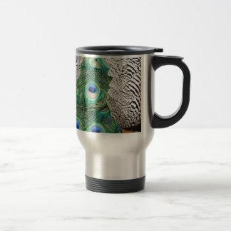 Back Of A Peacock Os om Colors Travel Mug
