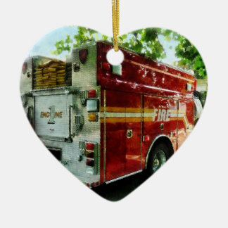 Back Of Fire Truck Christmas Tree Ornaments