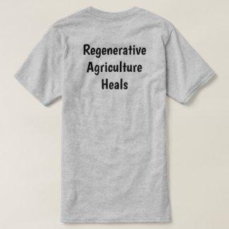Back of gray Regenerative Ag adult T-shirt