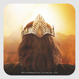 Back of Head with Crown Square Sticker