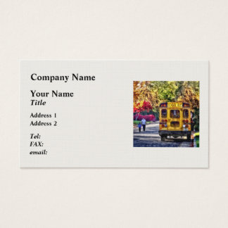Back of School Bus Business Card