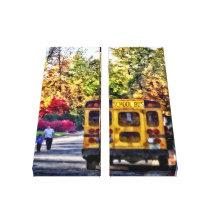 Back of School Bus Canvas Print