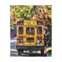 Back of School Bus Fleece Blanket