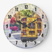 Back of School Bus Large Clock