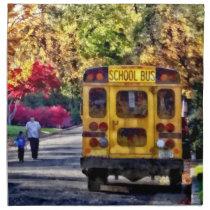 Back of School Bus Napkin