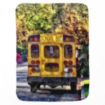Back of School Bus Receiving Blanket