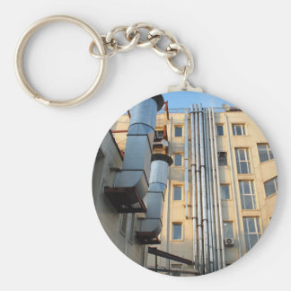 Back of the multistorey office building keychain