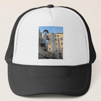 Back of the multistorey office building trucker hat