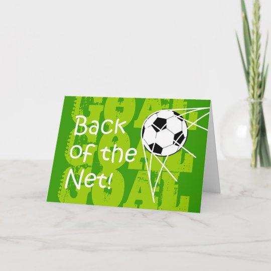 Back Of The Net Birthday Card Zazzle