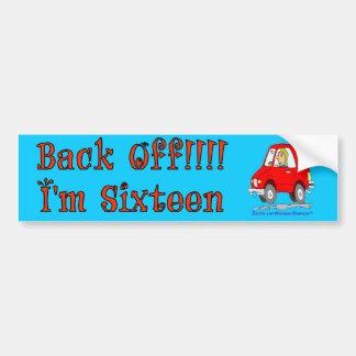 Back Off 16 Car Bumper Sticker