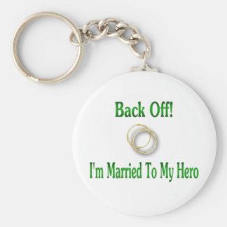 back off 432 basic round button keychain