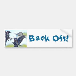 Back Off birds Bumper Sticker