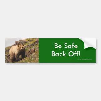 back off car bumper sticker