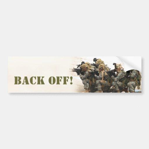 Back off! bumper sticker