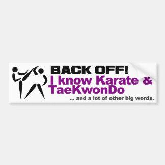 Back Off bumpersticker Bumper Sticker