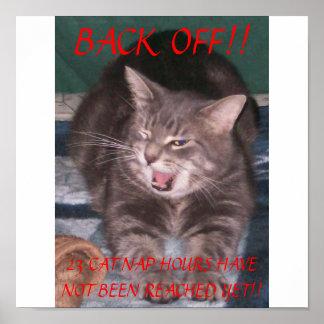 Back Off Cat Nap Poster