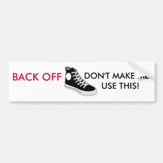 BACK OFF Funny Bumper Sticker Car Bumper Sticker