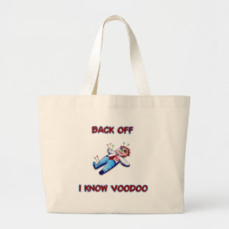 Back Off I Know Voodoo Doll Magic Haitian Canvas Bags