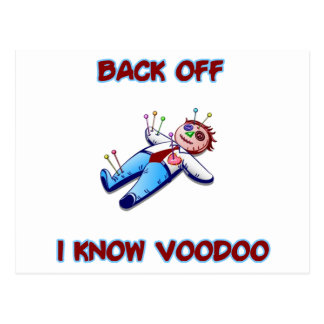Back Off I Know Voodoo Doll Magic Haitian Postcard