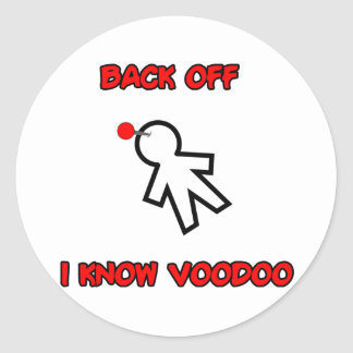Back Off I Know Voodoo Doll Magic Spell Haitian Stickers