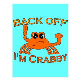 Back Off, I'm Crabby Postcard