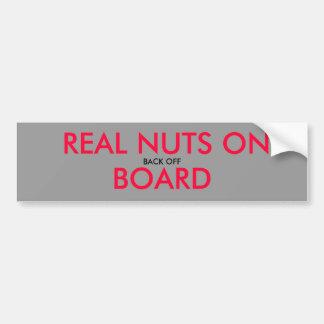 BACK OFF, NUTS BUCKEYE ON BOARD - Customized Bumper Sticker