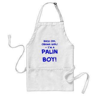 back off obama girl I'm a palin boy sarah Adult Apron