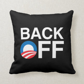 BACK OFF OBAMA THROW PILLOW