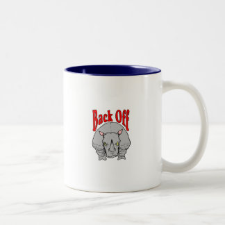 Back Off Rhino Shirt Two-Tone Coffee Mug