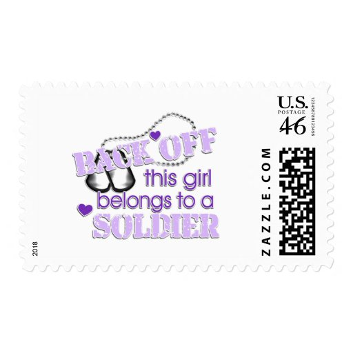 Back off Soldier Postage Stamp