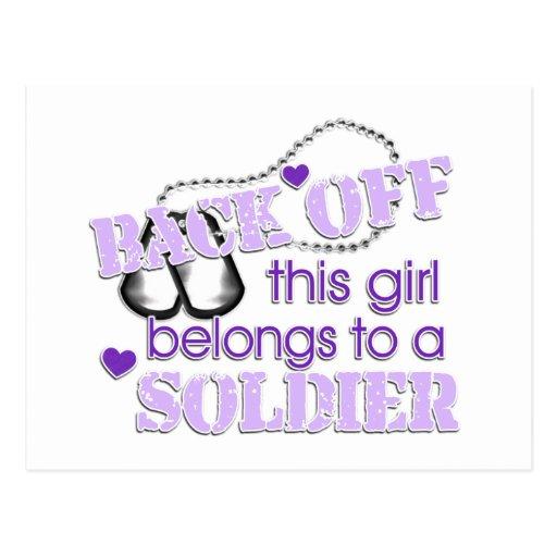 Back off Soldier Postcard