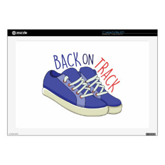 """Back On Track 17"""" Laptop Skin"""