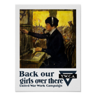 Back Our Girls Over There -- YWCA Poster