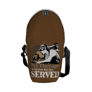 back pack promoting pet therapy for PTSD Messenger Bag