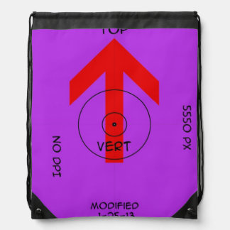 back pack - vert temp drawstring bag