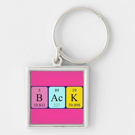 Back periodic table keyring
