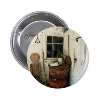Back Porch with Barrel Pinback Buttons