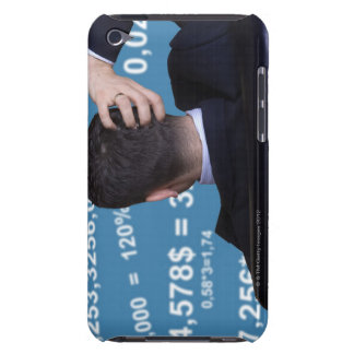 Back portrait of a businessman confused with iPod touch Case-Mate case