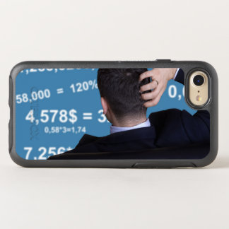 Back portrait of a businessman confused with OtterBox symmetry iPhone 7 case