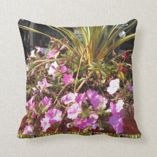 Back printed shirts flowers grass trees oakville throw pillow