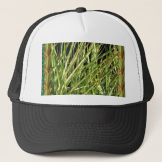 Back printed shirts flowers grass trees oakville trucker hat