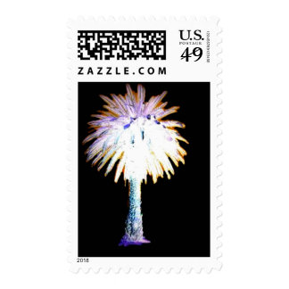 Back Purple Canary Island Date Palm Stamps