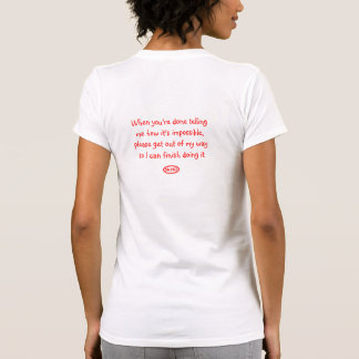 Back-Red: When you're done telling me ... Tshirts