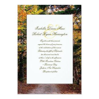 Back Road Custom Fall Wedding Invitations
